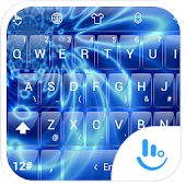 T GlassBlueWave TouchPal Theme