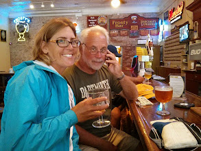 Photo: Toasting our departin crew member at Frosty's Bar, Put-In-Bay, OH