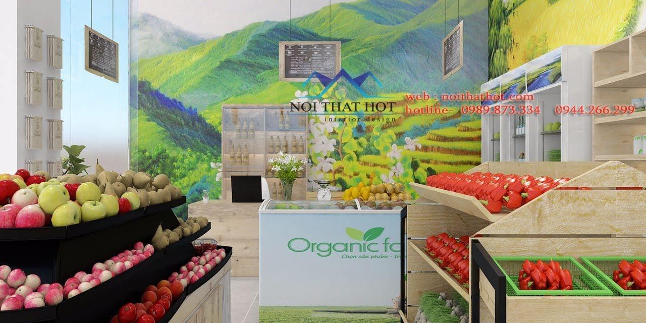thiết kế cửa hàng hoa quả sạch 3