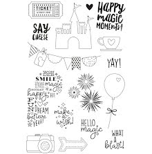 Simple Stories Say Cheese 4 Clear Stamps 4X6 - Magic  UTGÅENDE