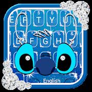 Diamond Blue Monster Keyboard Theme