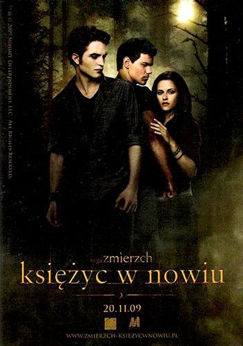 Przód ulotki filmu 'Saga Zmierzch: Księżyc W Nowiu'