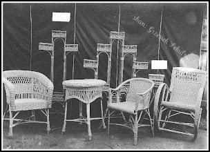 Photo: Prawdopodobnie zdjęcie reklamowe lub katalogowe rudnickich mebli wiklinowych (skan zdjęcia z archiwum Rodziny Skoczylasów)