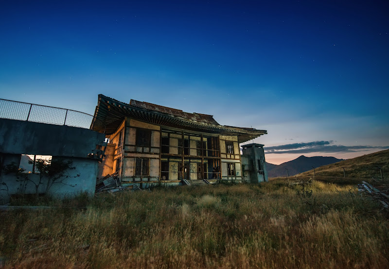 Photo: Here's the backside of that abandoned North Korean prison atop Deer Park Heights in Queenstown (this was a movie set about 20 years ago)
