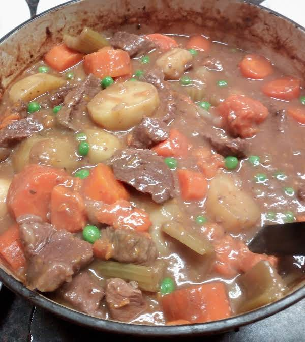 A Rich Hearty Casserole Ready For Dinner, It Just Needs Crusty Bread, Butter And A Green Salad To Serve.