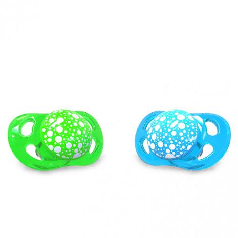 Twistshake Napp Mini 2st, 0-6m, Grön/Blå