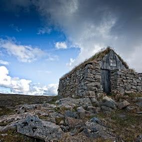 Ghost house by Þorsteinn Ásgeirsson - Buildings & Architecture Public & Historical ( mood, abounded, stone house, stone, house, rocks )