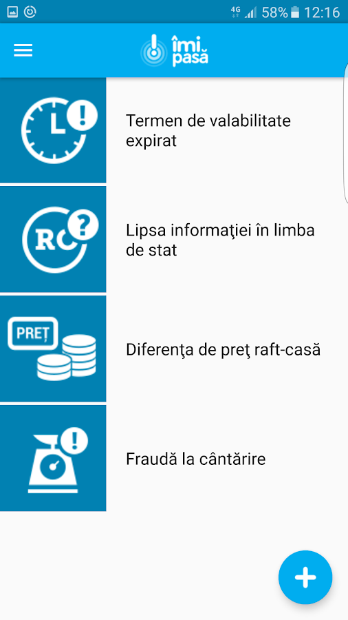 Imipasa - aplicatie oficiala- screenshot