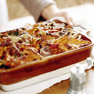 Baked Penne with Roasted Vegetables.