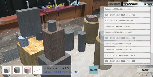 CUBE: Model and measure in AR Screenshot