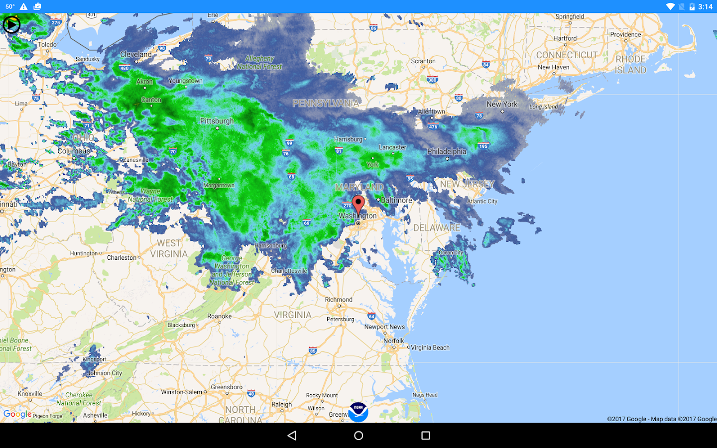 National Weather Service NOW- screenshot