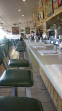 Photo: August 10-I enjoyed sidling up to the counter at cafes along the Route.  This is the Kix on 66 Diner.