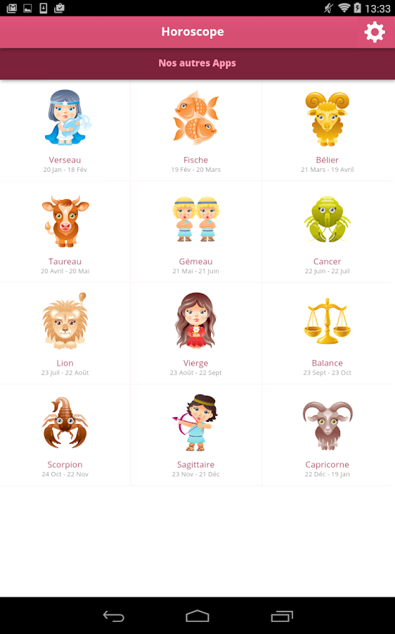 horoscope du jour applications android sur google play. Black Bedroom Furniture Sets. Home Design Ideas