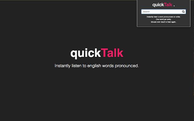 Quick Talk - Free instant pronunciation