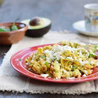 Migas with Feta Cheese and Avocado