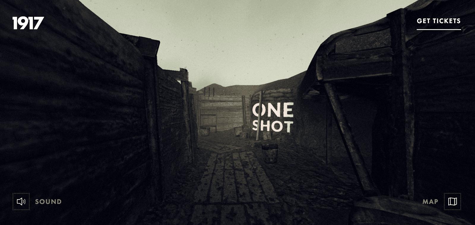 1917: In the trenches best website design award winner 2019