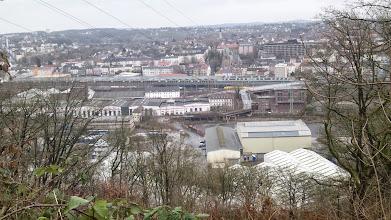 Photo: Winter-Panorama von Altenhagen - mit dem Bahnbetriebswerk Hagen-Eck[esey] und dem Umspannwerk im Bildzentrum - von der Philippshöhe aus gesehen (aus der Nähe der Hochspannungsleitung).