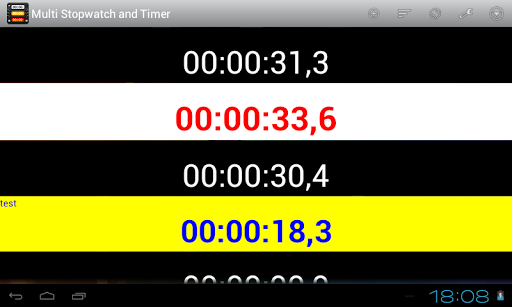 Multi Stopwatch and Timer Pro screenshot 9