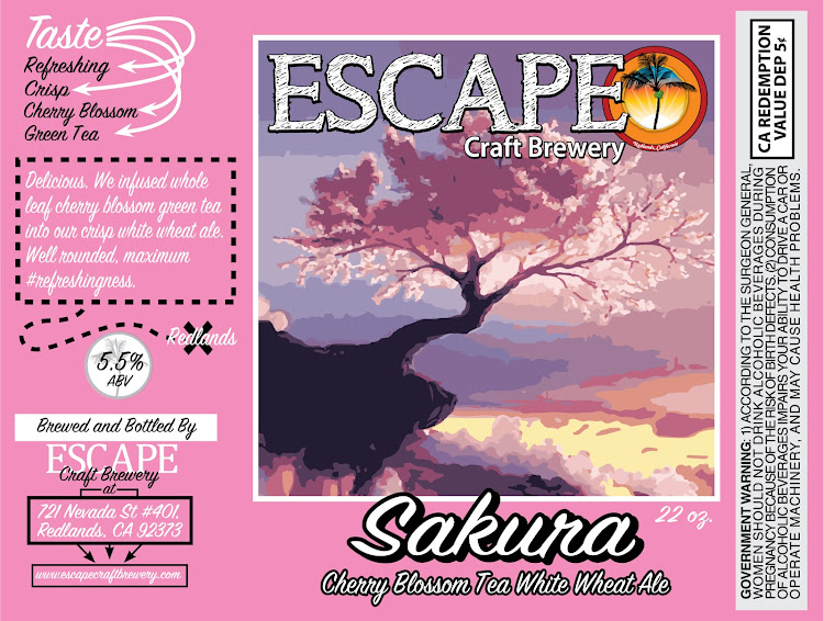 Logo of Escape Sakura Cherry Blossom Green Tea Ale