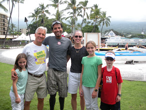 Photo: Our Family with  Rajesh Durbal -  first triple amputee to compete and finish the Hawaii Ironman.