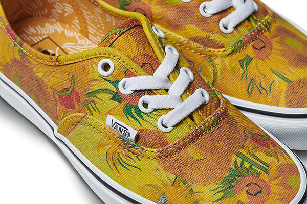 'Sunflower' print on Vans Authentic sneakers.