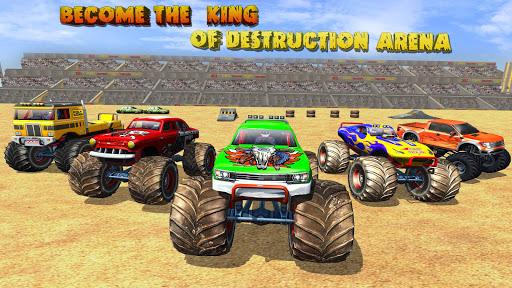 Télécharger Gratuit Fearless Monster Truck Derby Crash Demolition Game apk mod screenshots 2