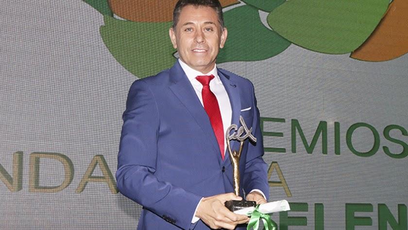 Francisco Belmonte, presidente de Biosabor, con el Premio