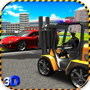 Police ForkLift vs Car Traffic for PC and MAC