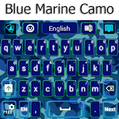 Blue Marine Camo Keyboard
