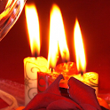 candle roses live wallpaper icon
