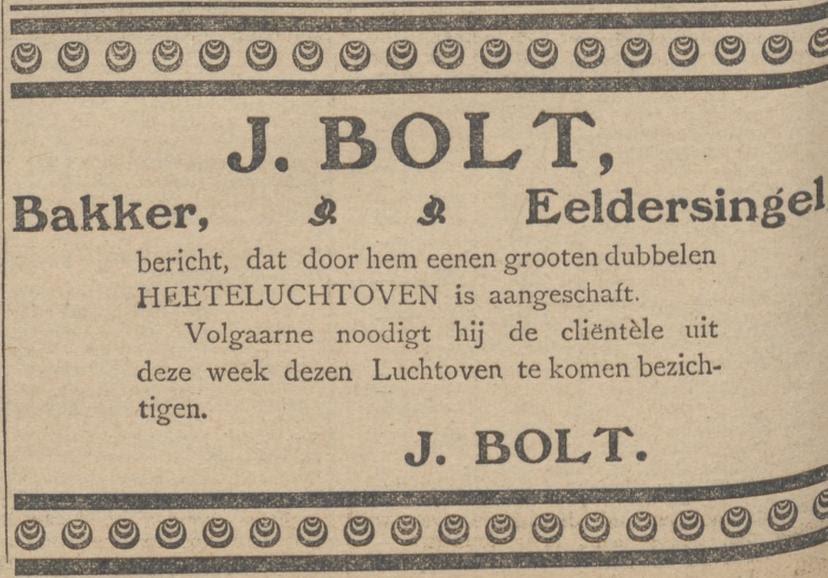 advertentie bezichtiging nieuwe oven (1911)