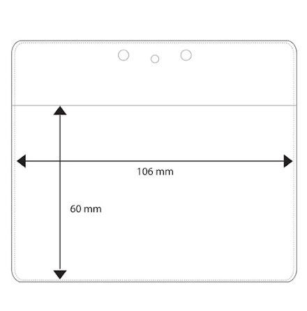 Plastficka Liggande 106x60mm - Utgående