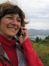 Photo: Oben auf dem Berg endlich Empfang! Und schon klingelt's: Freue mich tierisch über Sabines Anruf!