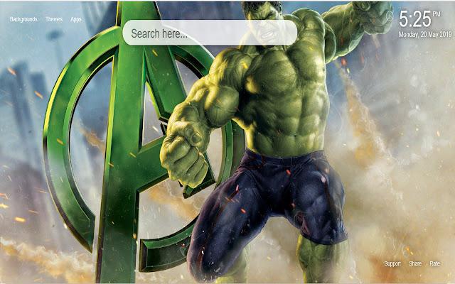 The Hulk HD Wallpaper New Tab