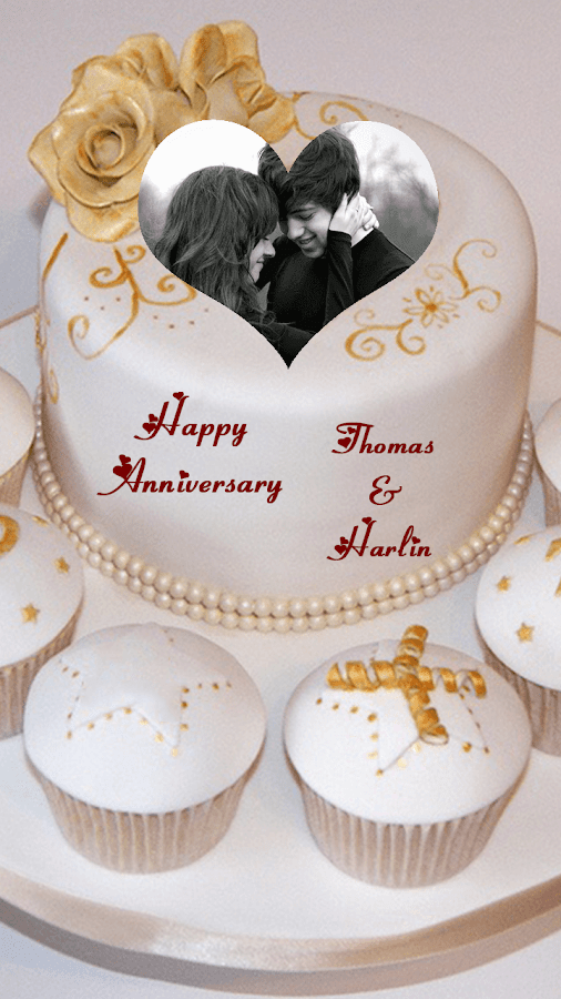 Anniversary Cake Images With Name And Photo Editor : Name Photo On Anniversary Cake - Android Apps on Google Play
