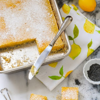 Meyer Lemon Bars with Poppyseed Crust
