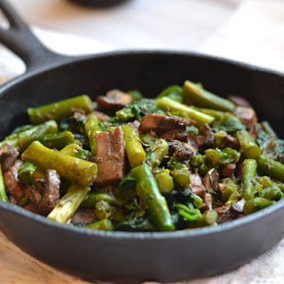 Savory Asparagus and Spinach Sauté