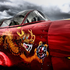 WW2 Fighter by Christopher Barker - Transportation Airplanes ( airplane, museum piece, world war 2 fighter )