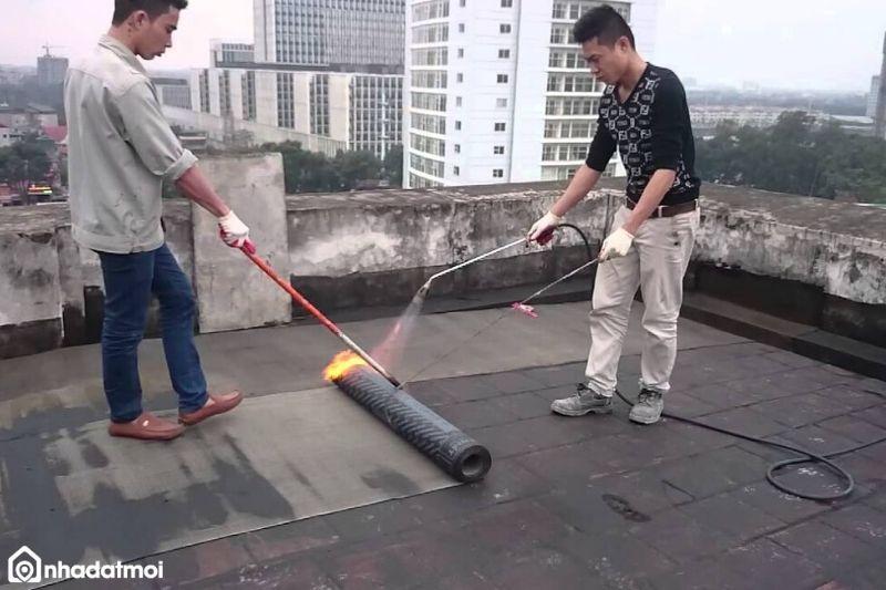 Cách thi công chống thấm bitum bằng khò nóng