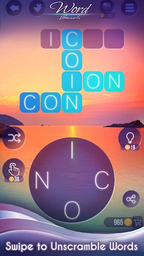 Word Beach : Reliez les mots , Jeu drôle de mots fond d'écran 2