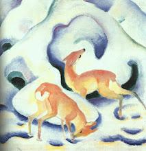 "Photo: Franz Marc, ""Cervi nella neve"" (1911)"