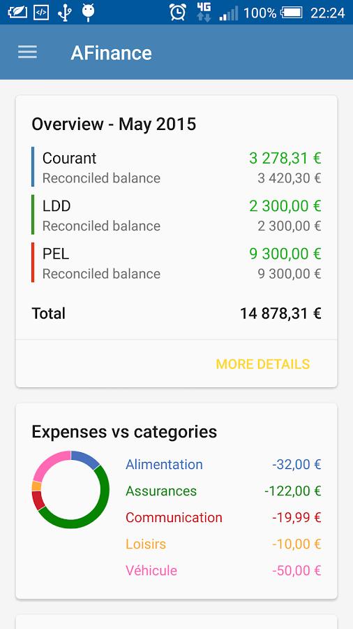 AFinance (trial) - screenshot
