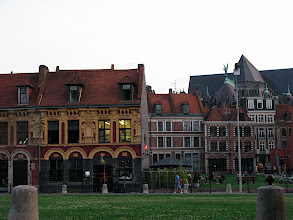 Photo: open square with old buildings