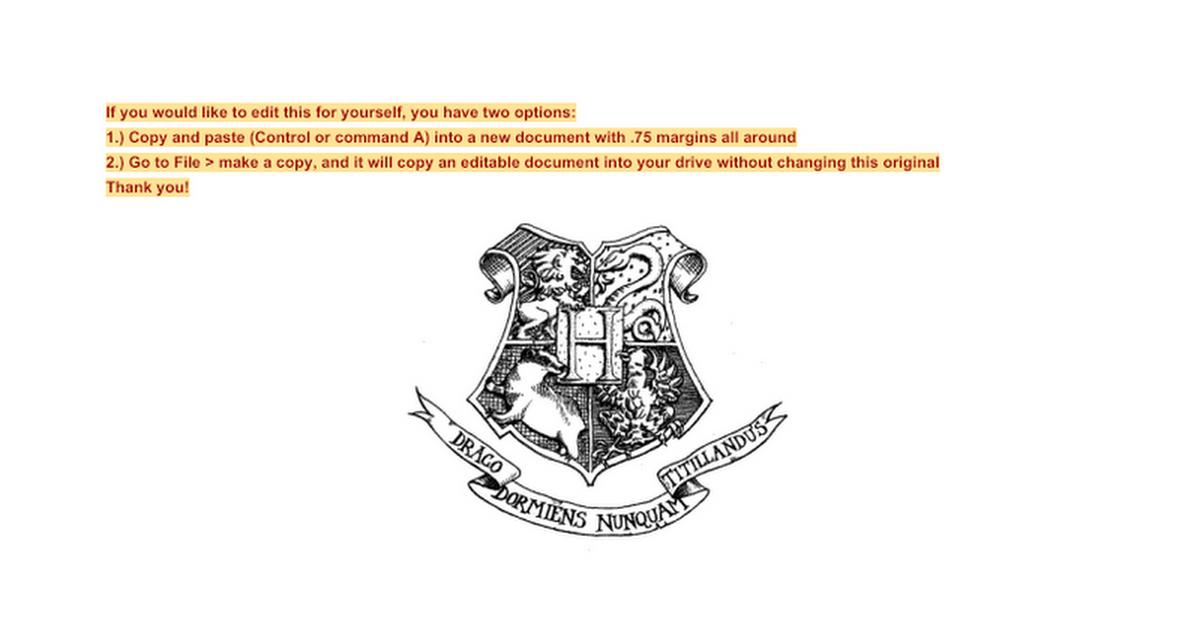 Hogwarts acceptance letter template google docs spiritdancerdesigns Gallery