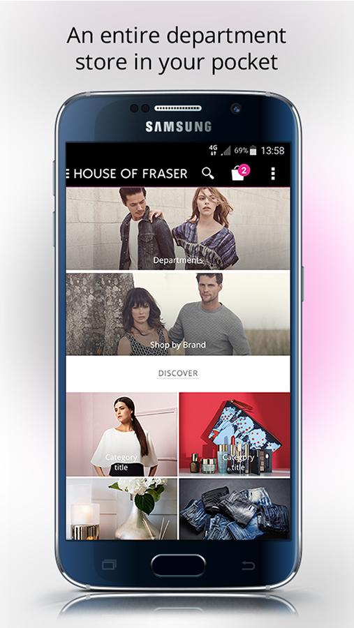 House of Fraser- screenshot