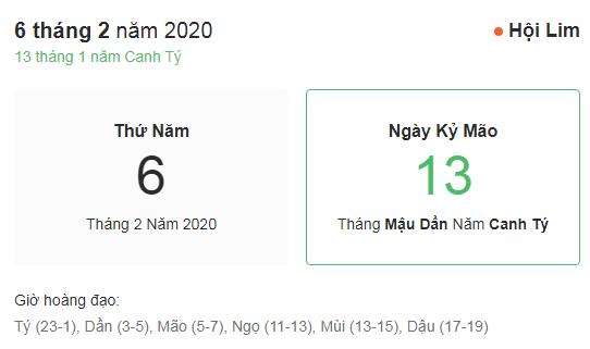 Dự đoán kết quả xsmb ngày 06/02/2020 theo phong thủy