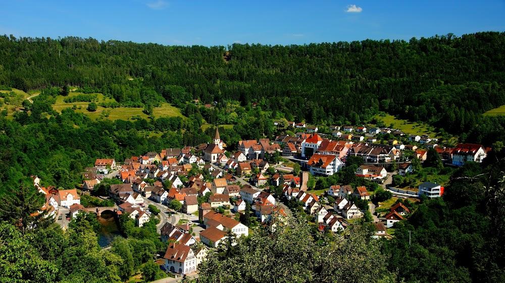 Die Schäferstadt Wildberg von oben