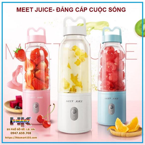 Máy xay sinh tố sạc điện cầm tay Meet Juice