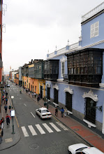 Photo: View from Gonzo's office in downtown Lima