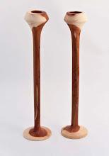 "Photo: Donald Van Ryk - Candlesticks - 2.5"" x 11"" - Red Cedar"